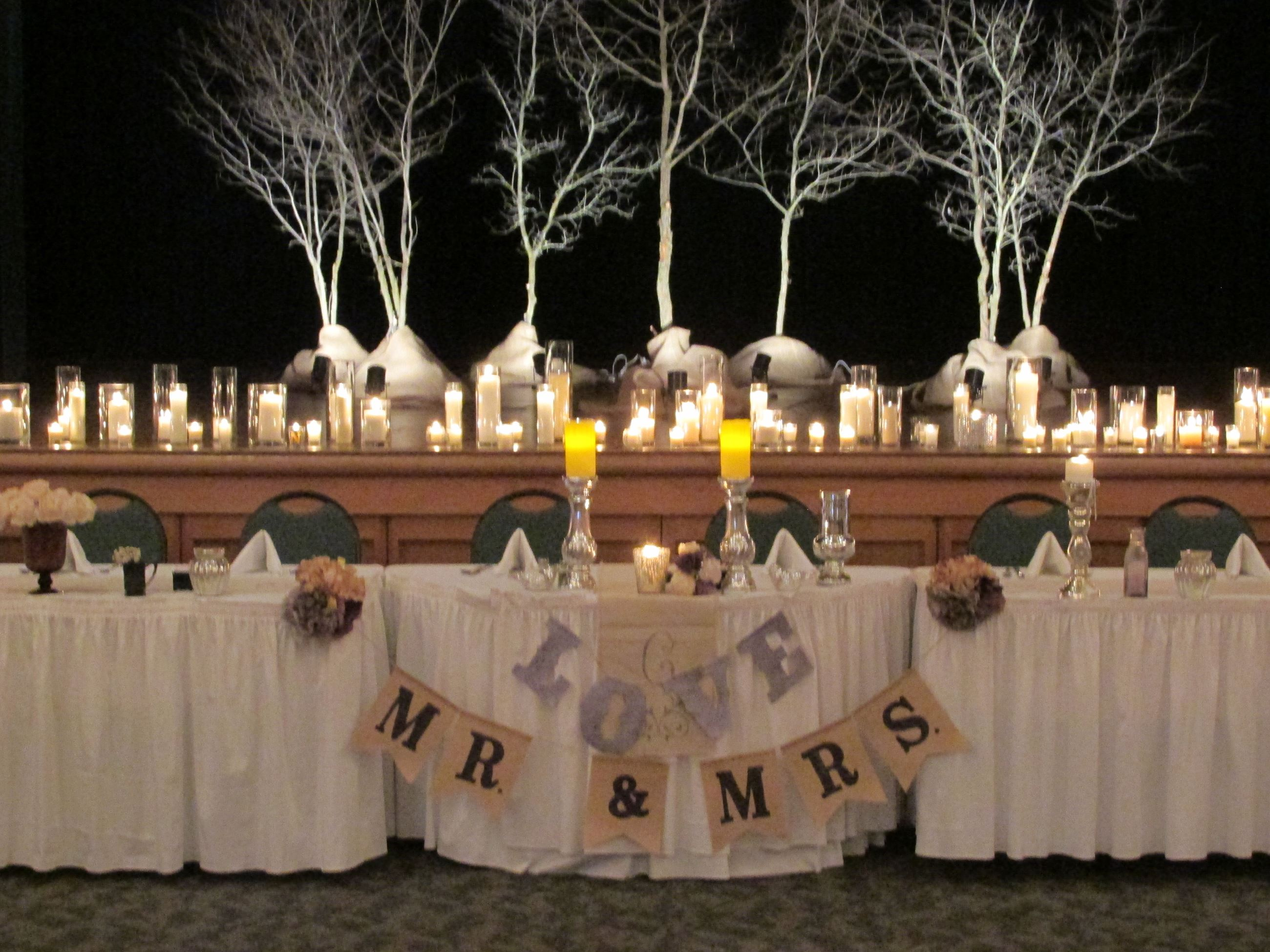 Winter White Head Table