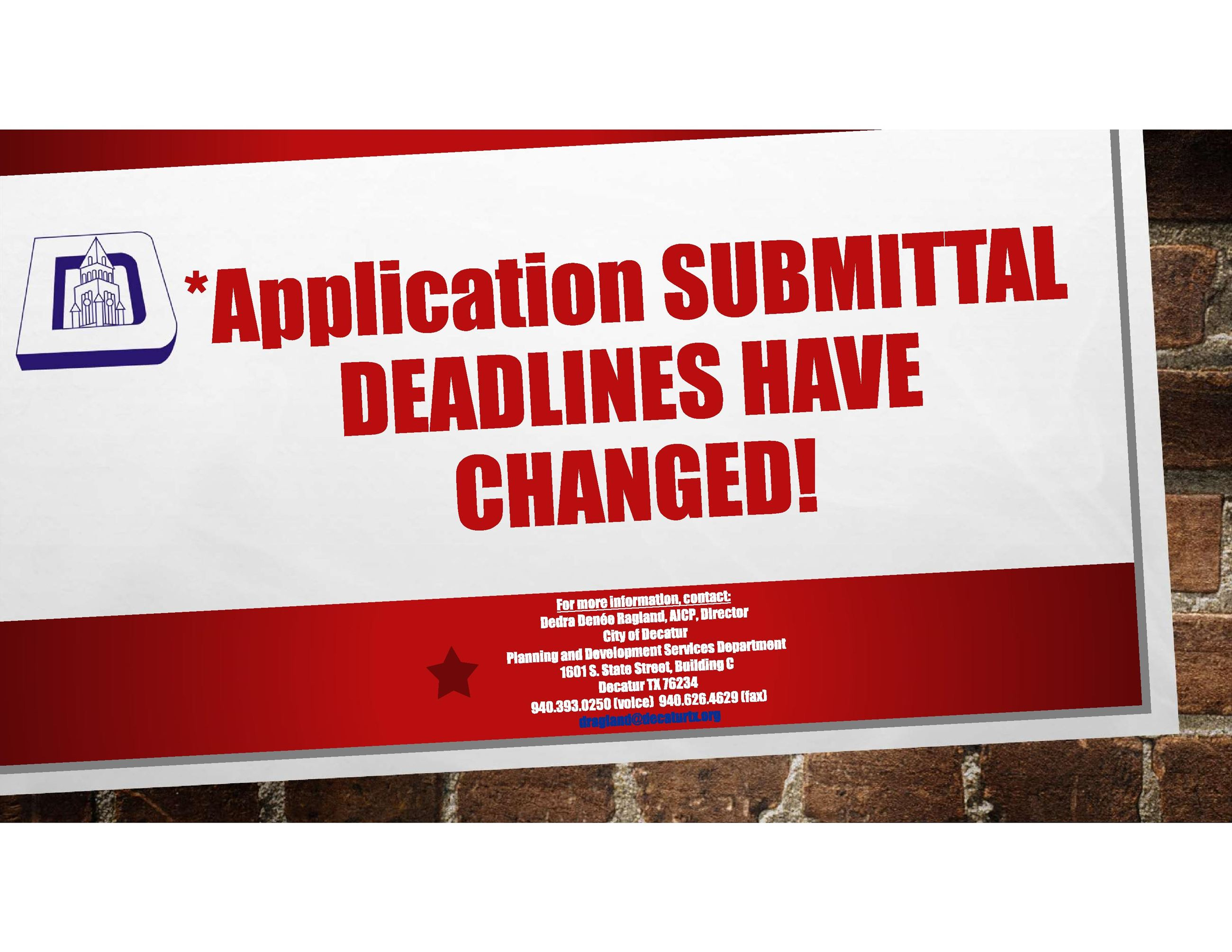 SUBMITTAL DEADLINES HAVE CHANGED v6 071020