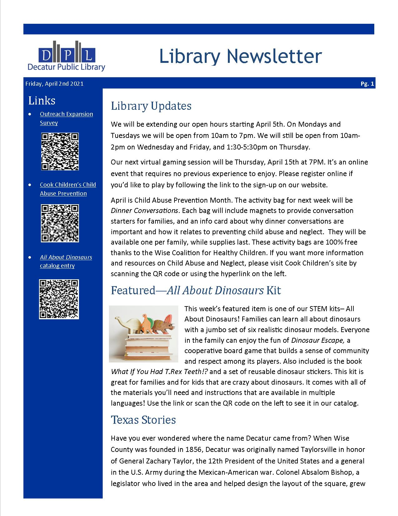 Library Newsletter 4-2